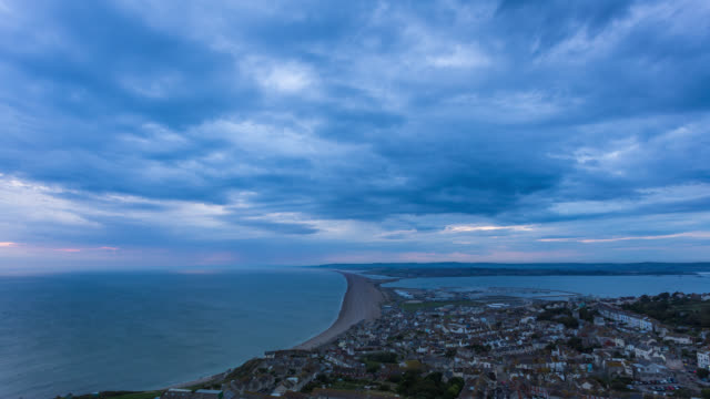 PORTLAND - TL: TimeLapse of Portland town in Dorset before a storm