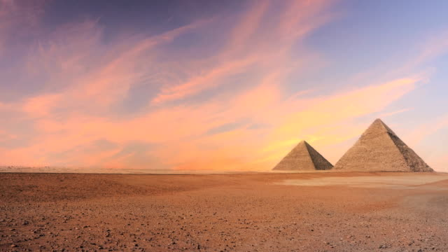 timelapse of pyramid - egypt stock videos & royalty-free footage