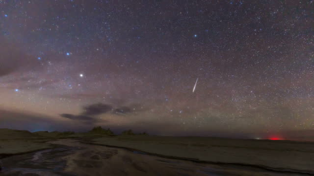 timelapse of qinghai - star trail stock videos & royalty-free footage