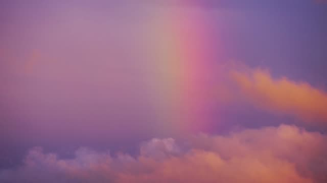 timelapse of rainbow over forest - rainbow stock videos & royalty-free footage