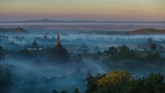 4k timelapse of ratanabon paya in mrauk-u - local landmark stock videos and b-roll footage