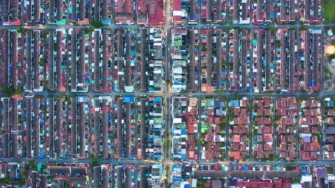 timelapse of residential district or village in top view - small stock videos & royalty-free footage