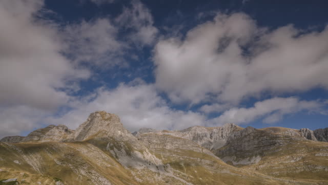 timelapse of rugged mountains in durmitor national park - durmitor national park stock videos & royalty-free footage