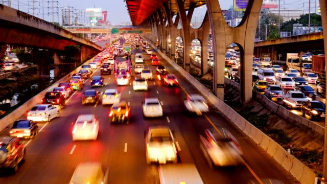 4K timelapse of Rush hour in Bangkok, Thailand