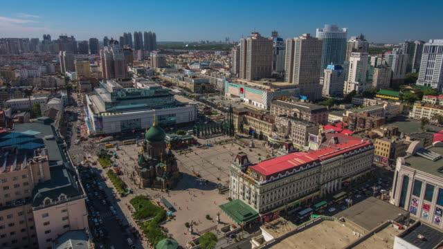 Timelapse of Saint Sophia Cathedral, Harbin, China