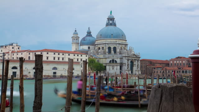 Time-lapse of Santa Maria della Salute from Piazza San Marco.