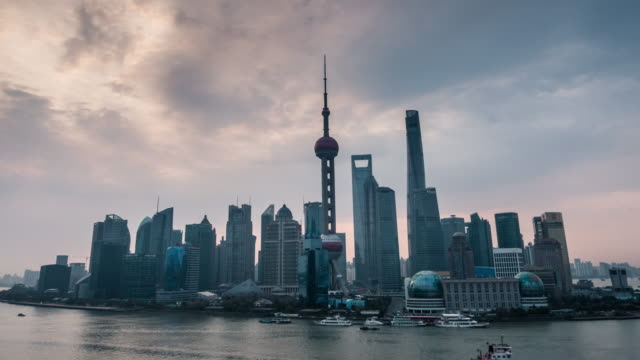 Timelapse of Shanghai skyline