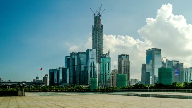 T/L LA PAN Timelapse of Shenzhen skyline / Shenzhen,China