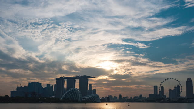 Timelapse of Singapore Cityscape at Day