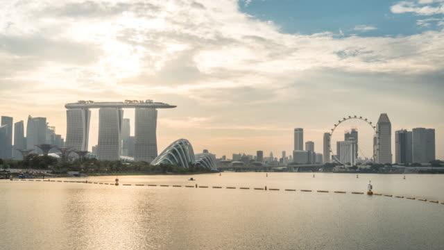 Timelapse of Singapore Cityscape at dusk