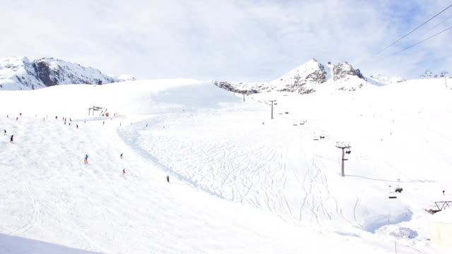 timelapse of ski resort slope in Switzerland