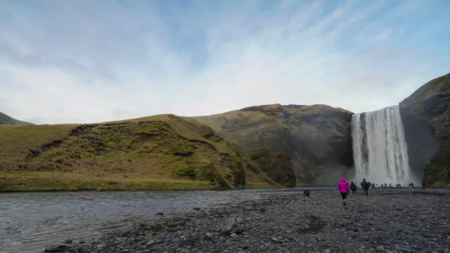 Time-lapse van Skogafoss waterval, IJsland