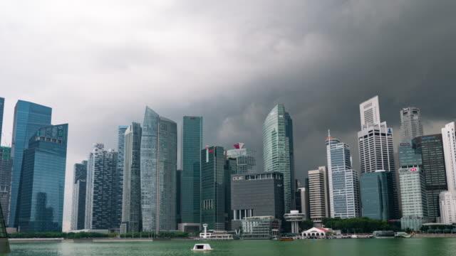 Timelapse der Skyline von Central Business District der Dämmerung