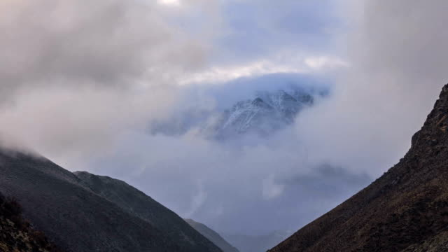 Timelapse Of Snow Mountain In Tibet