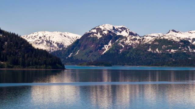 Time-lapse of snowy Alaskan mountains