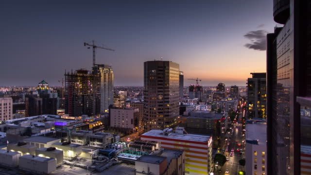 Timelapse of South Park, Downtown Los Angeles at Sunset
