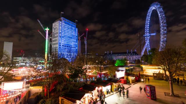 LONDON: TimeLapse of Southbank Christmas Market and London Eye