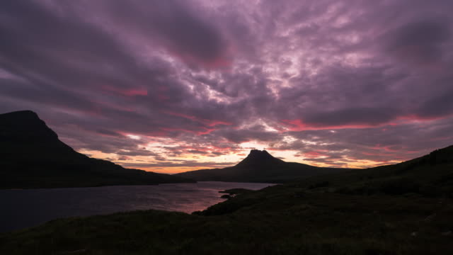 Timelapse of Stac Pollaidh during sunset