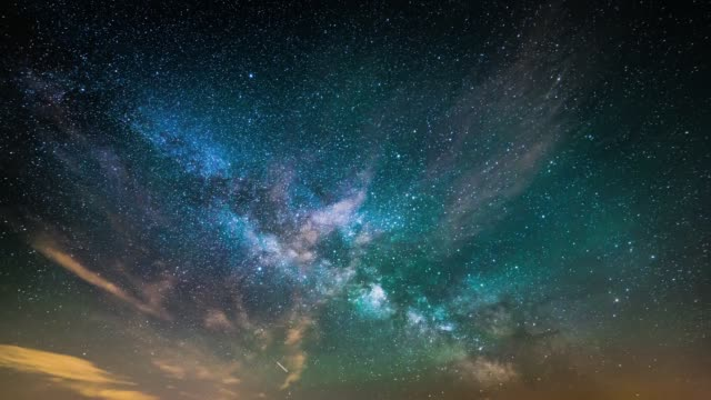 timelapse of starry night sky - stars stock videos & royalty-free footage