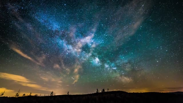 Timelapse van starry nightsky