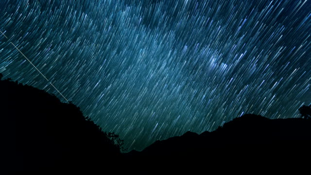 Time-lapse of stars in the sky