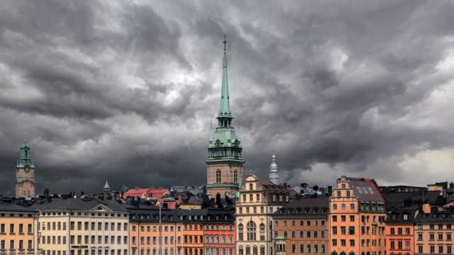 stockvideo's en b-roll-footage met timelapse van stockholm - stadsdeel