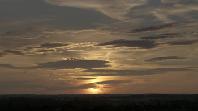 timelapse of sun rising over english countryside - rural scene stock videos & royalty-free footage