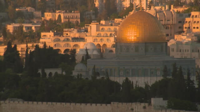 Timelapse of sun rising over the Dome of the Rock in Jerusalem