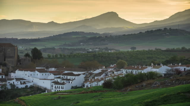Timelapse of Sunrise in Ronda, Spain