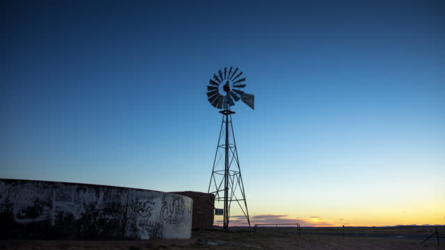 Timelapse of Sunrise on Rural Desert Farm in Arizona