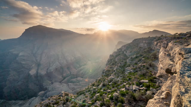 timelapse of sunrise over canyon - canyon stock videos & royalty-free footage