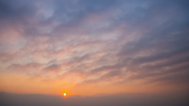 time-lapse of sunrise with cloud movement 4k(uhd) - 20 seconds or greater stock videos & royalty-free footage