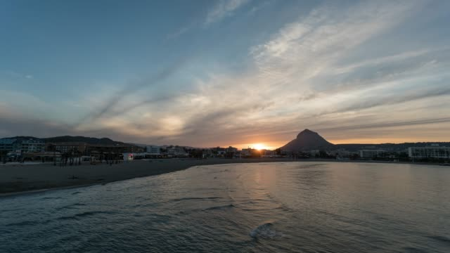 Time-lapse of sunset in Javea bay, Spain