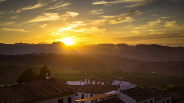 Timelapse of Sunset in Ronda, Spain