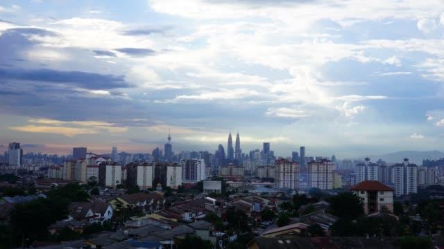 Timelapse of sunset over Kuala Lumpur, Malaysia