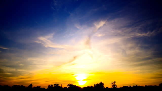 time-lapse of sunset sky and cloudy beautiful nature - wide stock videos & royalty-free footage