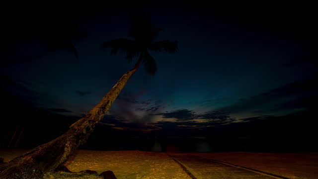 time-lapse of sunset until night by the beach - day stock videos & royalty-free footage