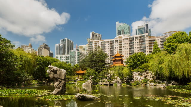Timelapse of Sydney from the Chinese Gardens in 4K