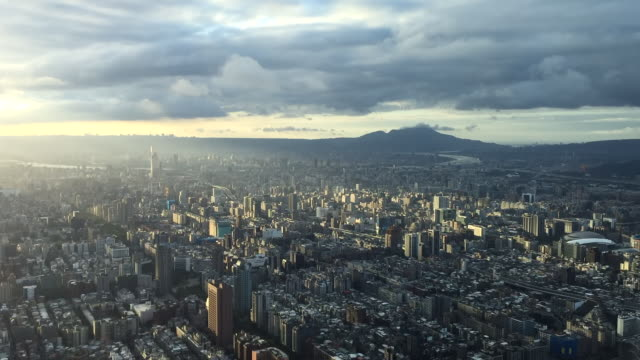vídeos de stock e filmes b-roll de timelapse of taipei - taiwan