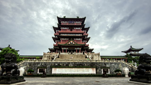 TimeLapse of TengWangGe Pavilion in China