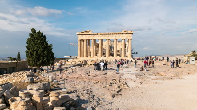 Timelapse of the Acropolis of Athens