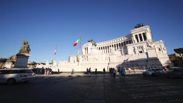timelapse of the altare della patria at piazza venezia in rome italy on friday may 29 2015 - altare della patria stock videos and b-roll footage