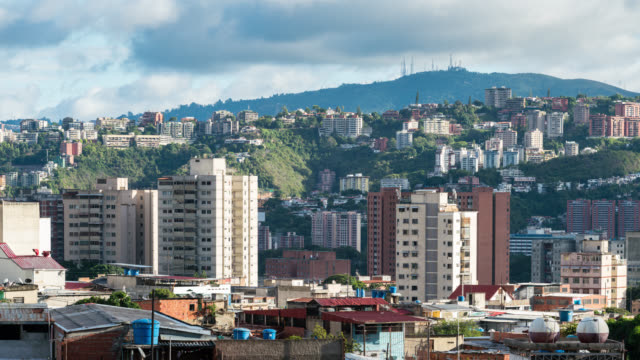 Timelapse of the city of Caracas during the day