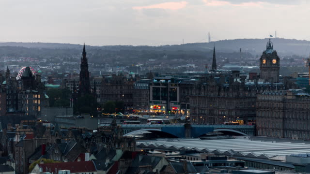 Timelapse of the city of Edinburgh