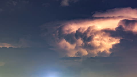 timelapse of the cloud - dramatic sky stock videos & royalty-free footage