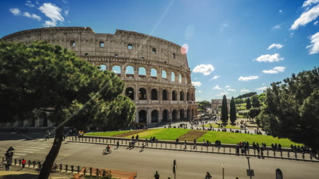 Timelapse of the Coliseum of Rome
