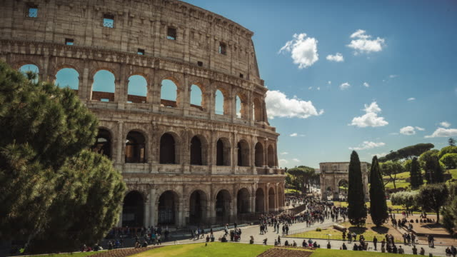 Timelapse of the Colosseum of Rome
