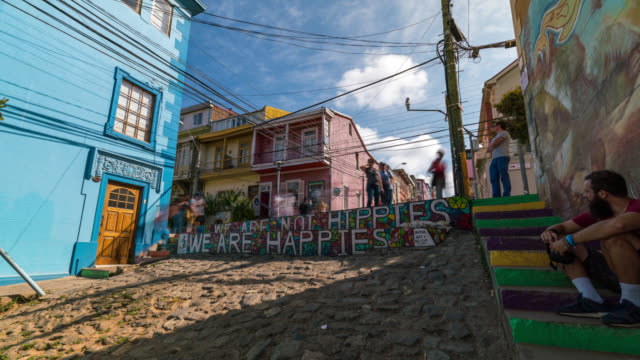 Timelapse of the colourful town Valparaiso