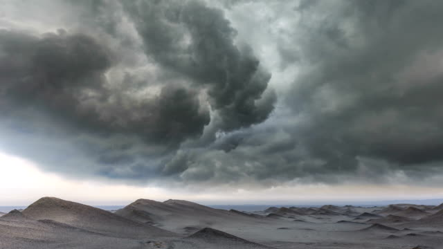 timelapse of the desert - storm cloud stock videos & royalty-free footage