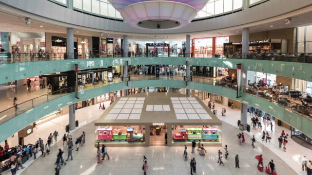 timelapse of the dubai mall shopping center - shopping centre stock videos & royalty-free footage